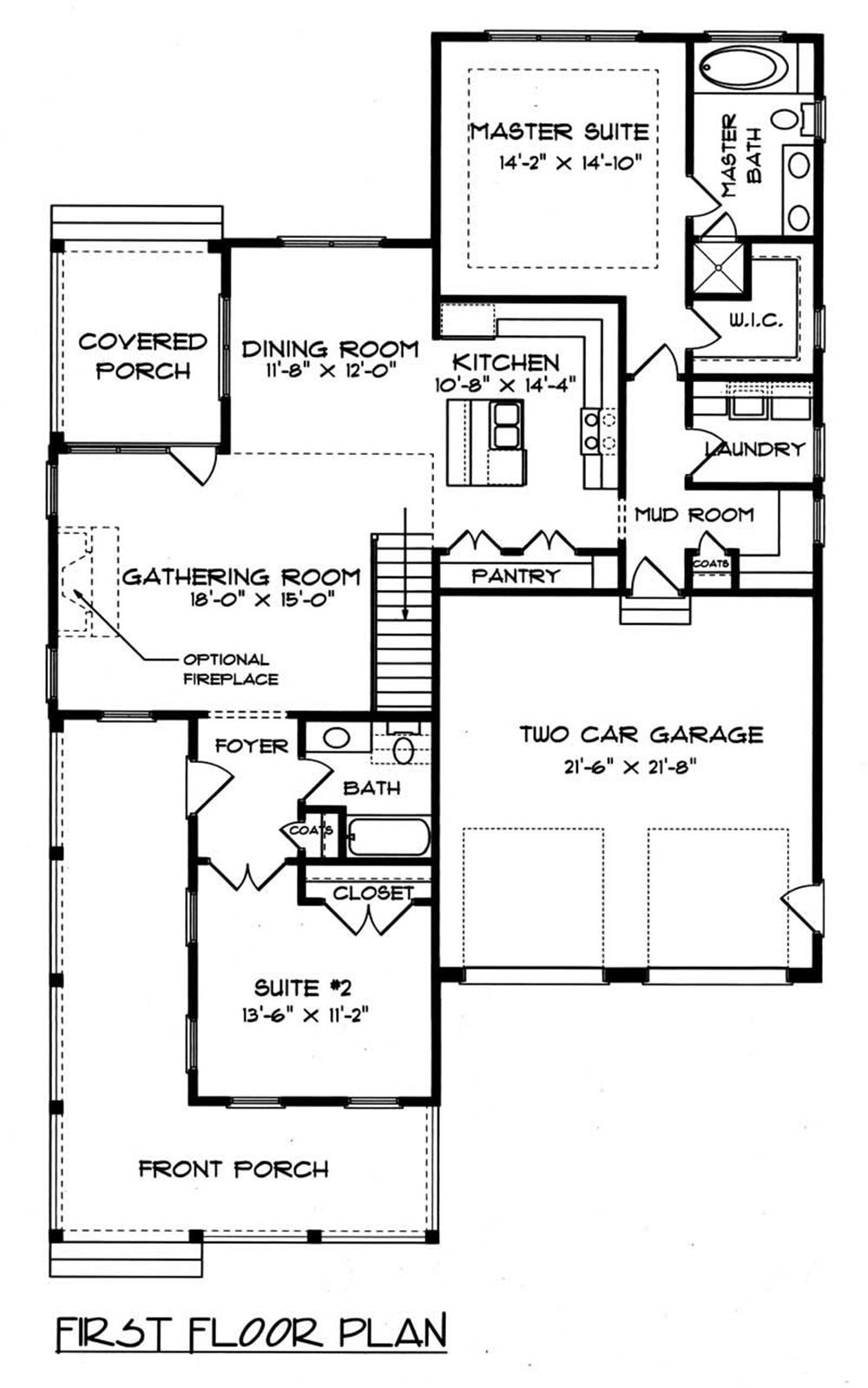 House Plan EDG-1958-A3 Main Floor Plan