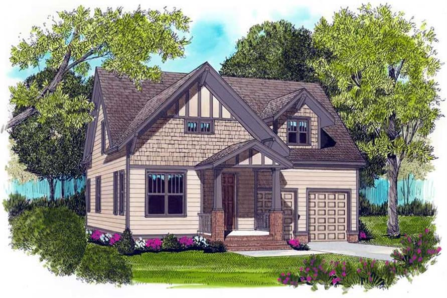 3-Bedroom, 2021 Sq Ft Craftsman House Plan - 127-1048 - Front Exterior