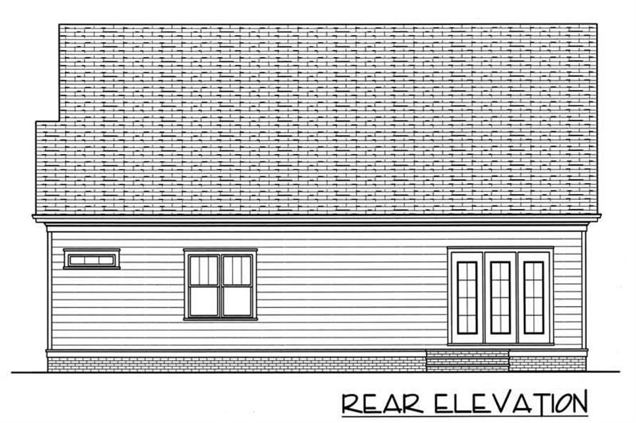 House Plan EDG-2021-B Rear Elevation