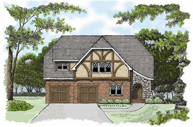 4-Bedroom, 2241 Sq Ft Country Home Plan - 127-1049 - Main Exterior