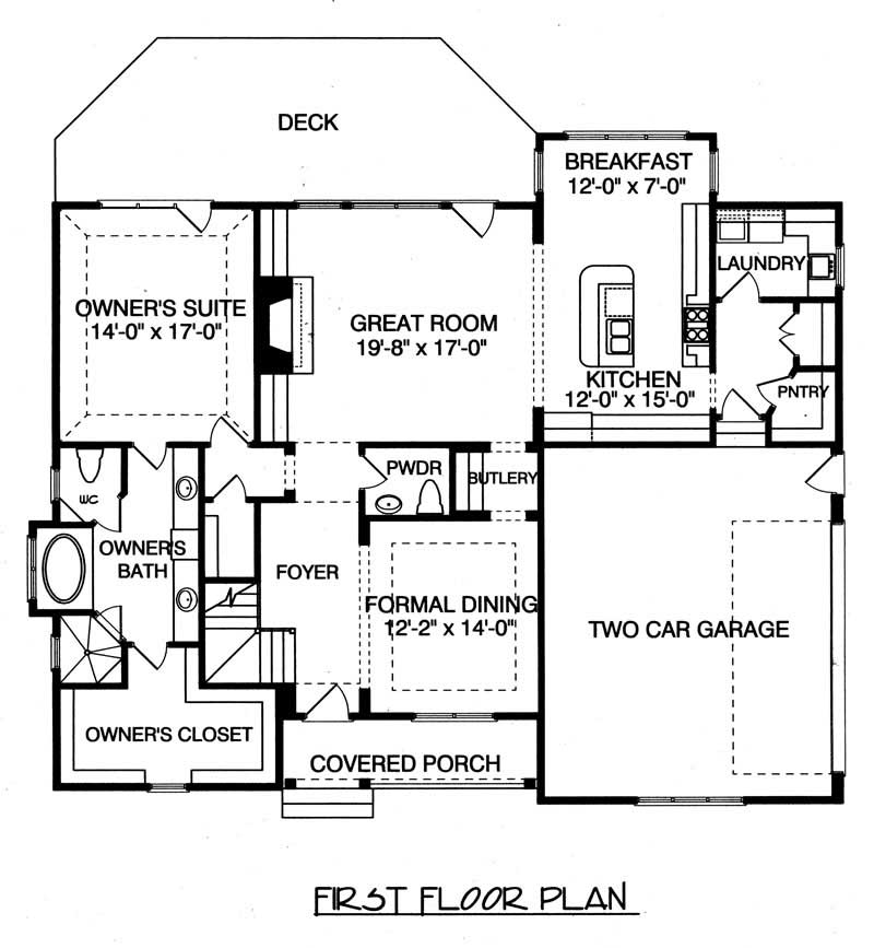 House Plan Rustic Cottage Main Floor Plan