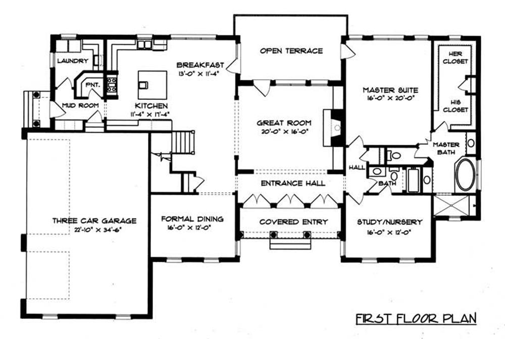 House Plan EDG-4574 Main Floor Plan