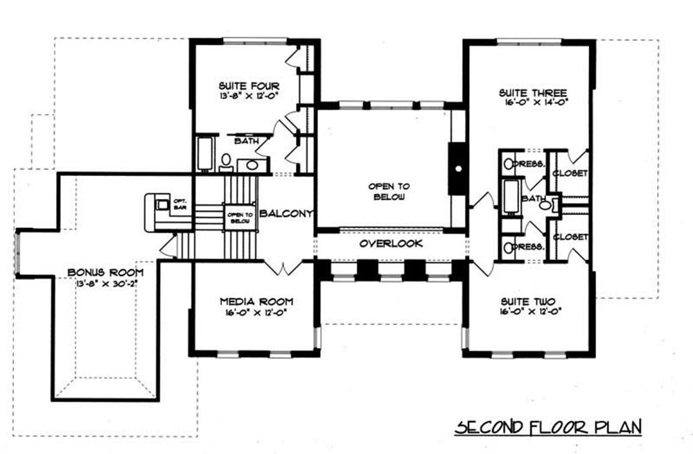 House Plan EDG-4574 Second Floor Plan