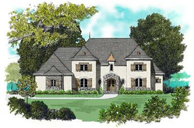 4-Bedroom, 4450 Sq Ft Country Home Plan - 127-1053 - Main Exterior