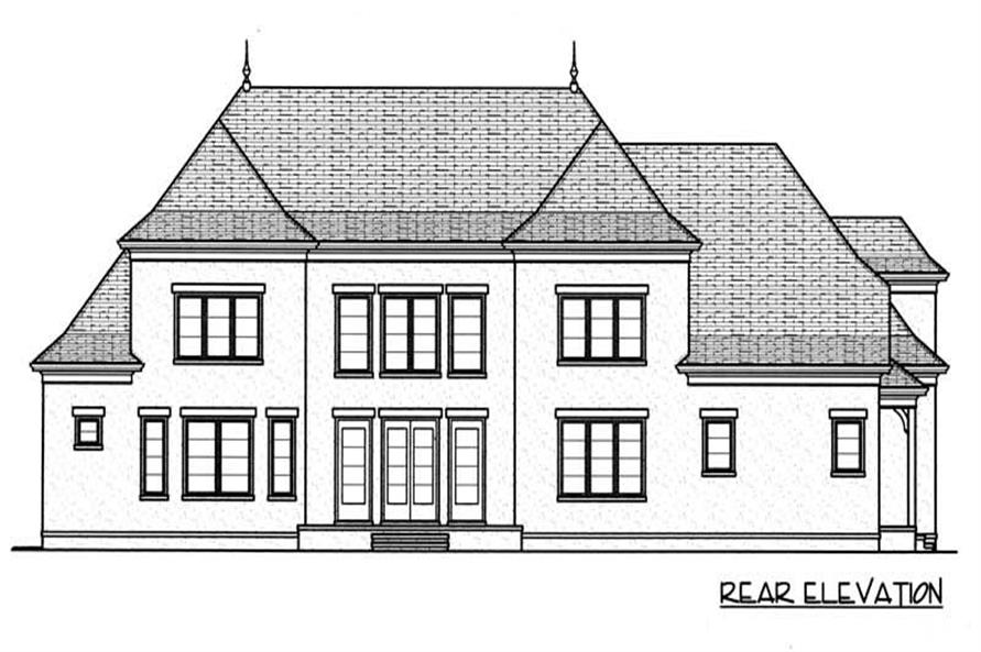 House Plan EDG-4450 Rear Elevation