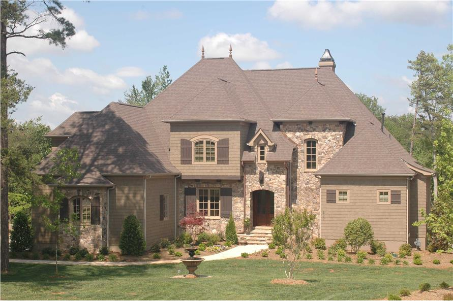 4-Bedroom, 6424 Sq Ft French House Plan - 127-1055 - Front Exterior