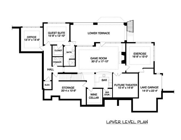 Floor Plan Basement for this set of french house plans.