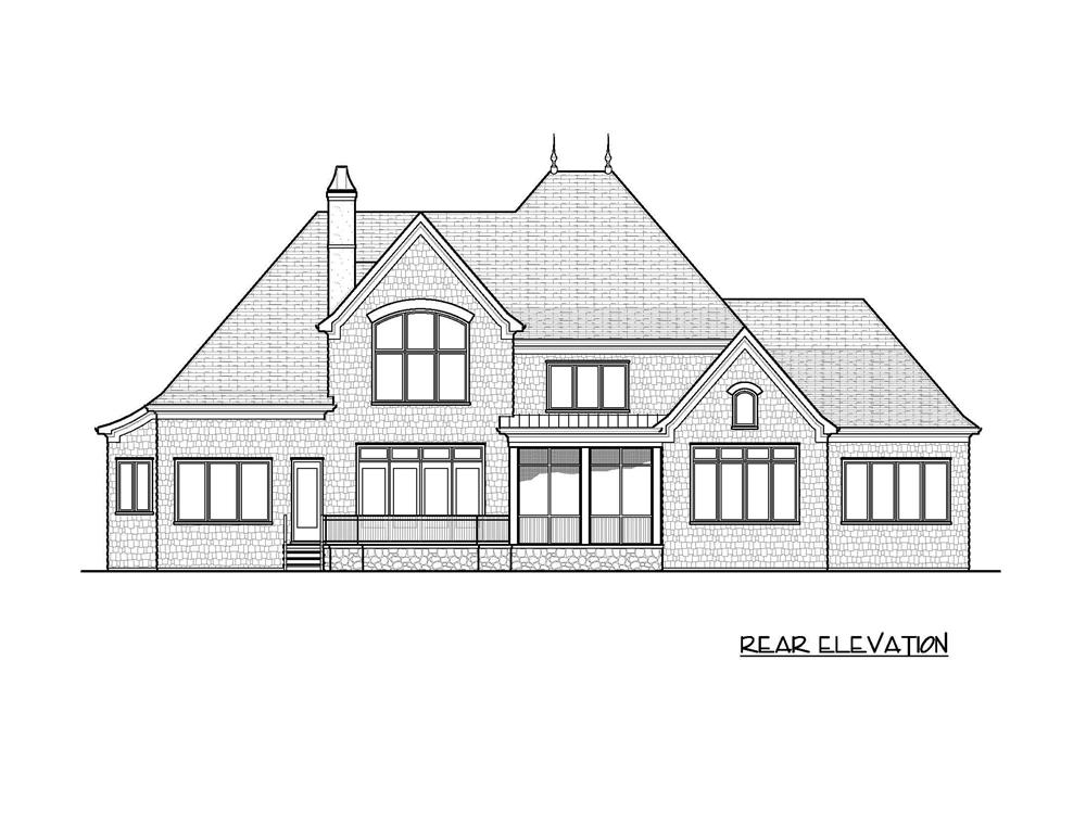 Home Plan Rear Elevation for these luxury home plans.
