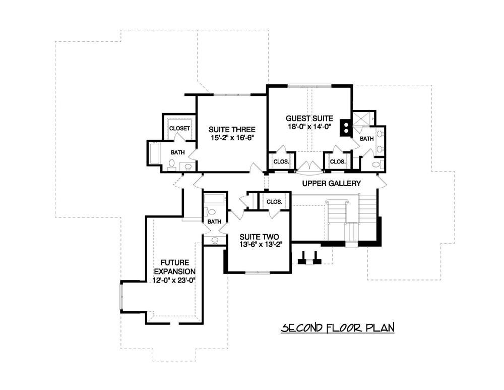 Floor Plan Second Story for these luxury plans.