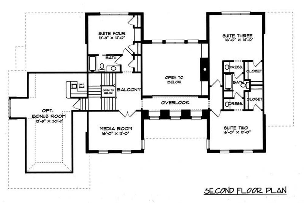 House Plan EDG-4048 Second Floor Plan