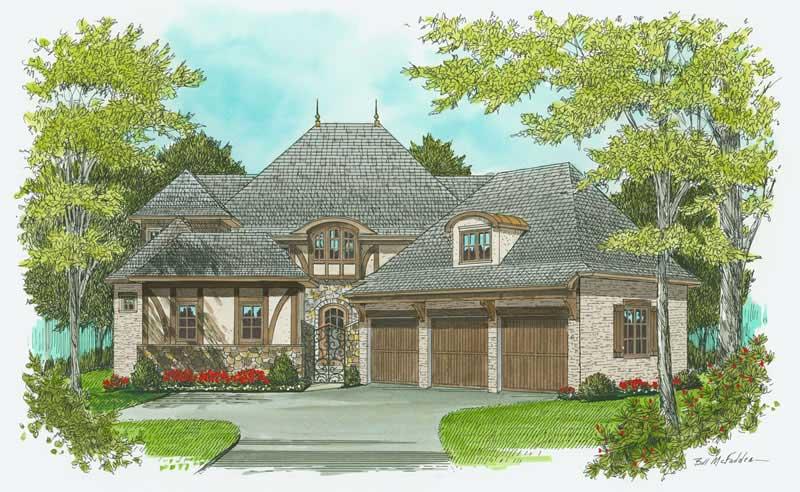 French European Tudor House Plans Home Design Edg 3974 17345