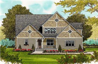 4-Bedroom, 3126 Sq Ft Craftsman Home Plan - 127-1060 - Main Exterior