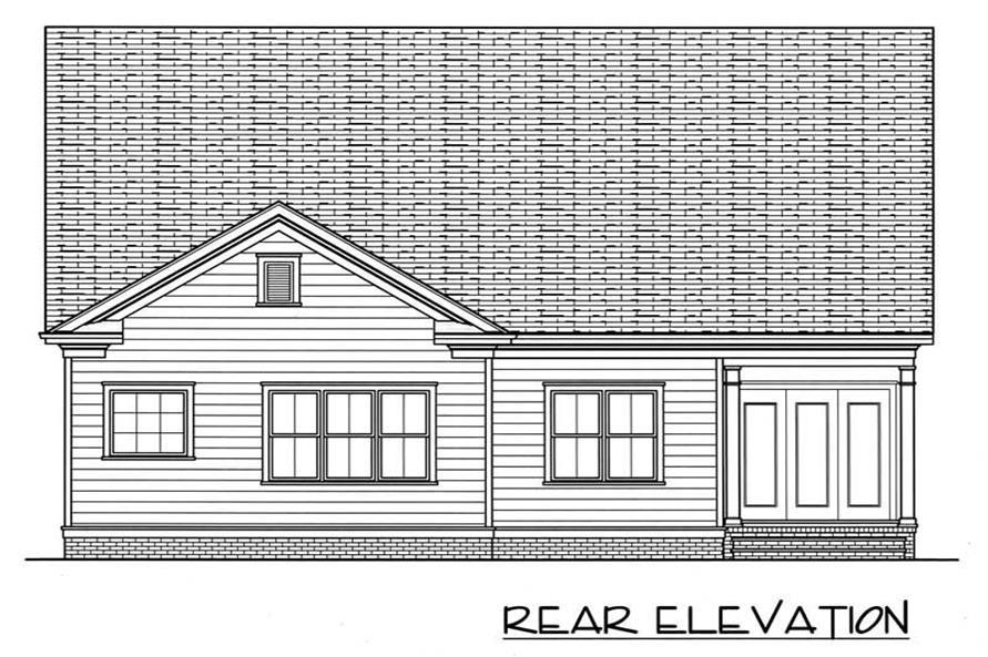 House Plan EDG-1958-A1 Rear Elevation