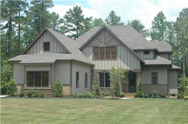 4-Bedroom, 3233 Sq Ft Craftsman House Plan - 127-1063 - Front Exterior