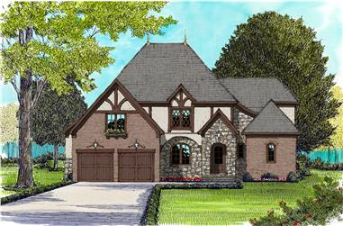 4-Bedroom, 3910 Sq Ft French Home Plan - 127-1066 - Main Exterior