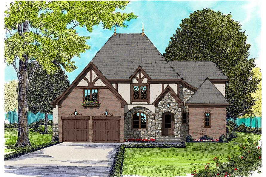 French House Plans color image.