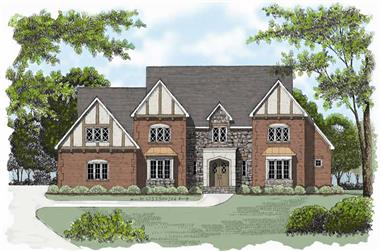 4-Bedroom, 4069 Sq Ft European Home Plan - 127-1067 - Main Exterior