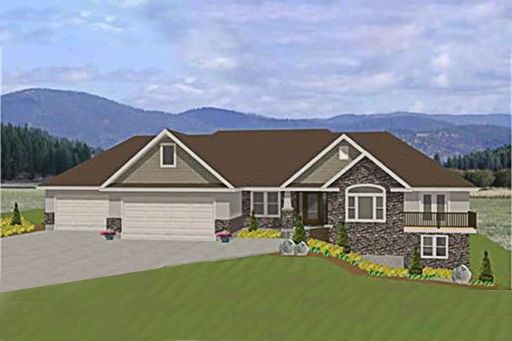 Luxury home plan (ThePlanCollection: House Plan #129-1000)