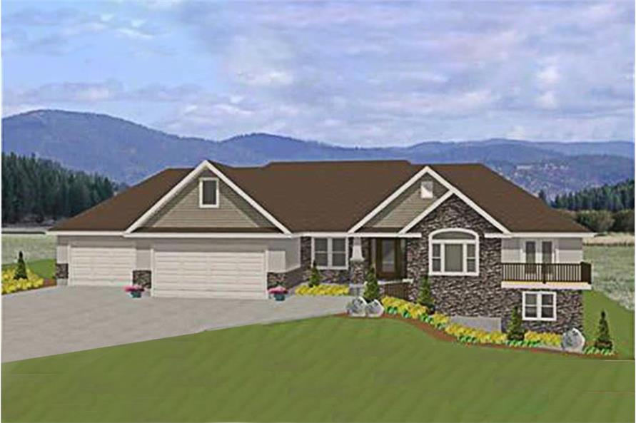 3-Bedroom, 4603 Sq Ft Luxury House Plan - 129-1000 - Front Exterior