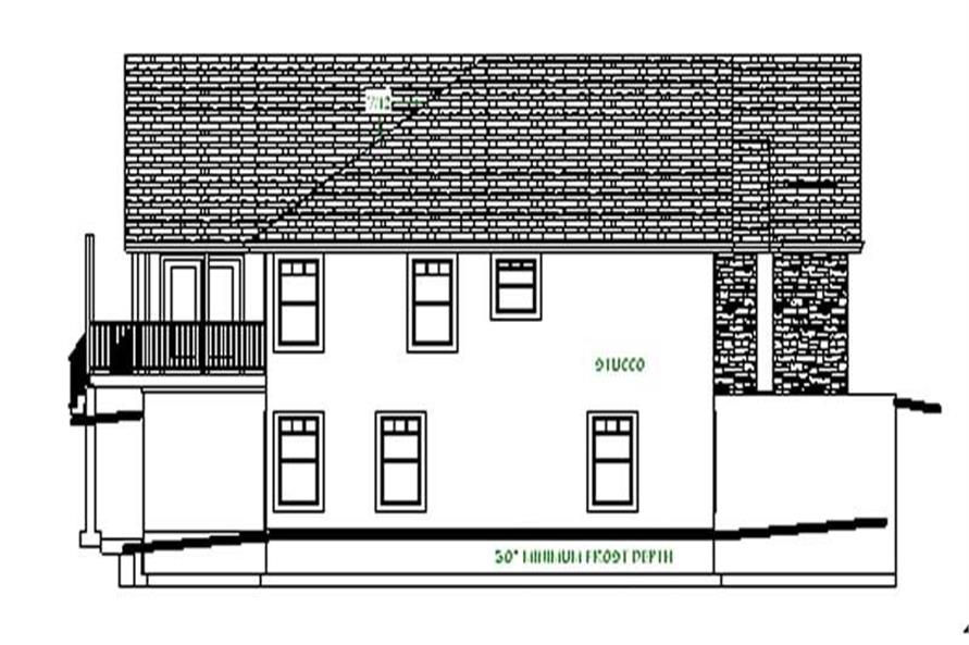Home Plan Left Elevation of this 3-Bedroom,2066 Sq Ft Plan -129-1001