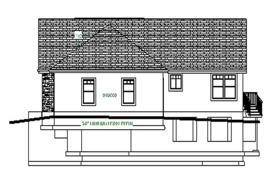 Home Plan Right Elevation of this 3-Bedroom,2066 Sq Ft Plan -129-1001