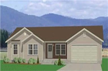 3-Bedroom, 1326 Sq Ft Small House Plans - 129-1002 - Front Exterior