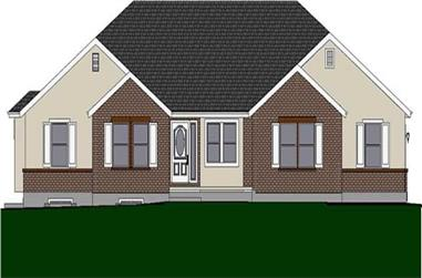 3-Bedroom, 1717 Sq Ft Small House Plans - 129-1003 - Main Exterior