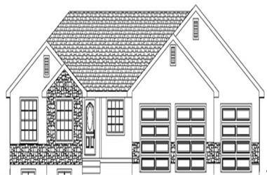 3-Bedroom, 1858 Sq Ft Ranch Home Plan - 129-1004 - Main Exterior