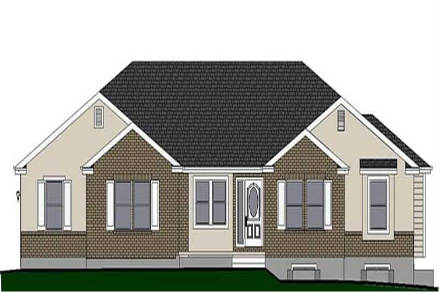 Front elevation of Small House Plans home (ThePlanCollection: House Plan #129-1006)