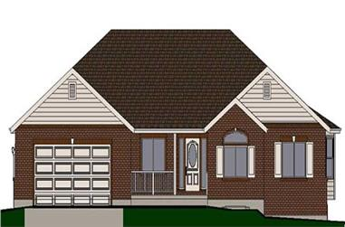 3-Bedroom, 1764 Sq Ft Small House Plans - 129-1008 - Front Exterior