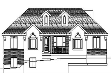 3-Bedroom, 2004 Sq Ft Contemporary Home Plan - 129-1010 - Main Exterior