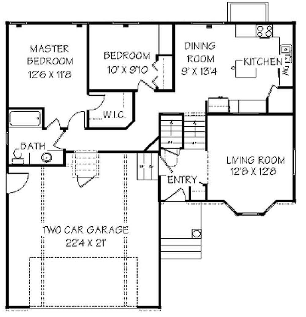 129-1012: Floor Plan Main Level