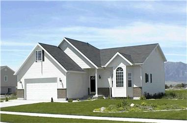 2-Bedroom, 1014 Sq Ft Contemporary Home Plan - 129-1012 - Main Exterior