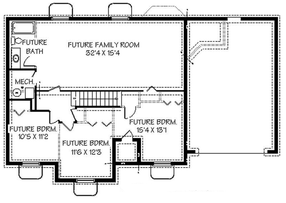 129-1013: Floor Plan Basement