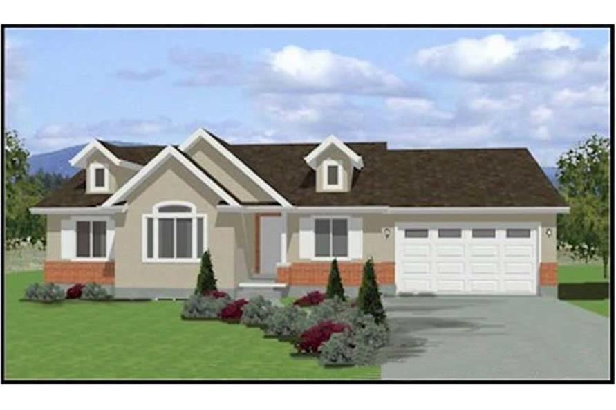 3-Bedroom, 1380 Sq Ft Contemporary Home Plan - 129-1013 - Main Exterior