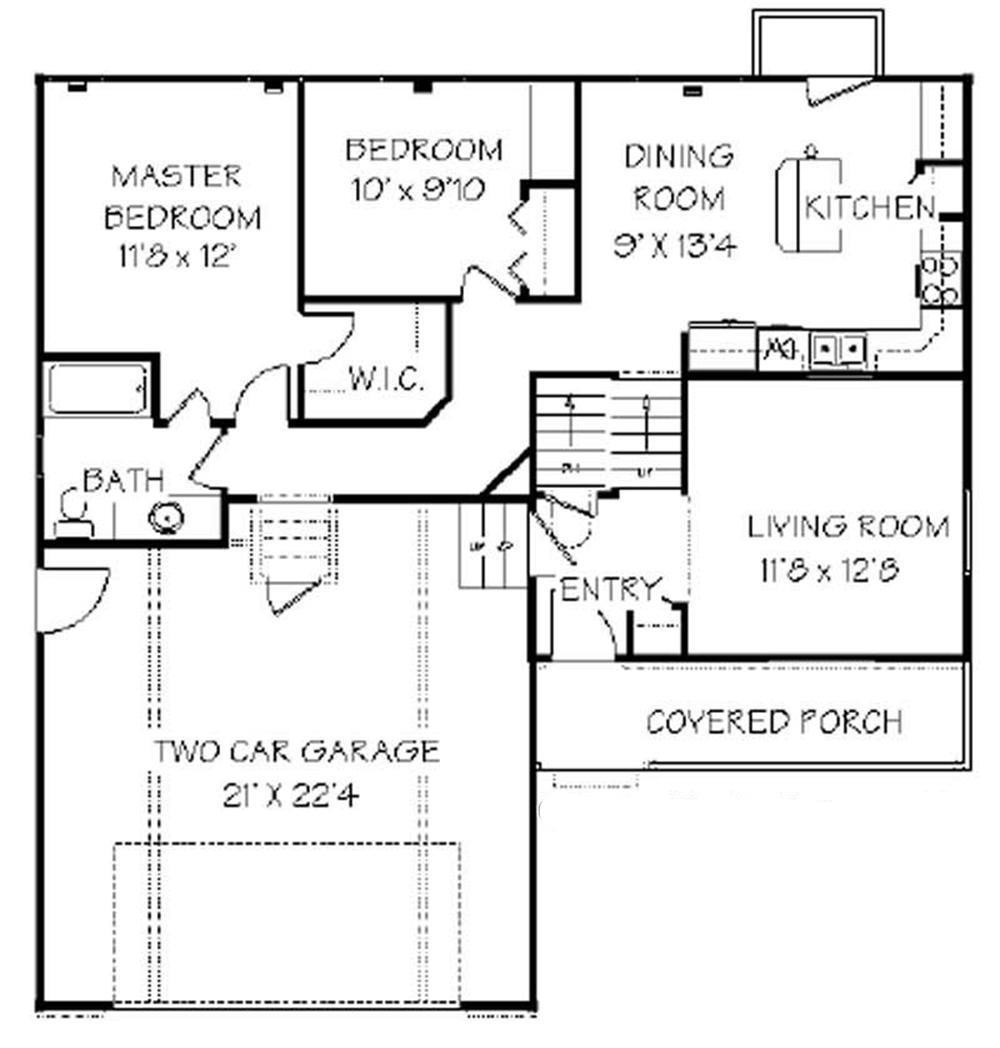 129-1015: Floor Plan Main Level