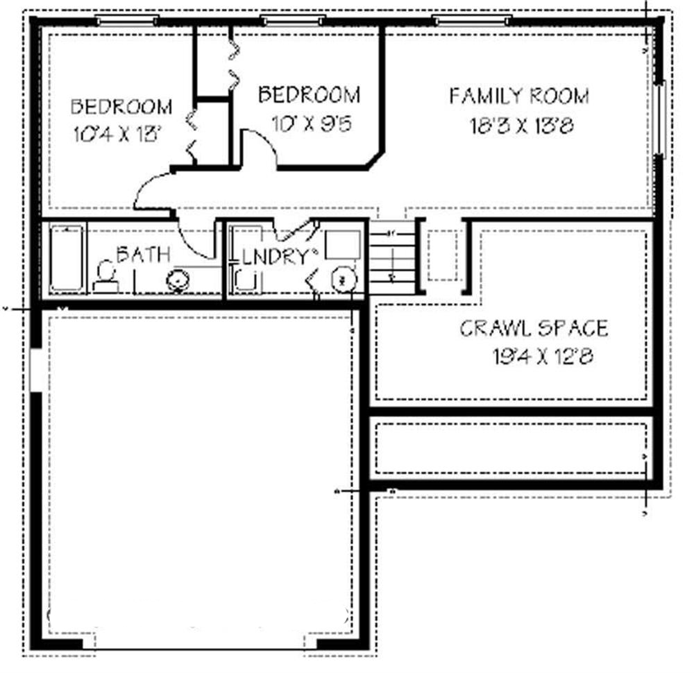129-1015: Floor Plan Basement