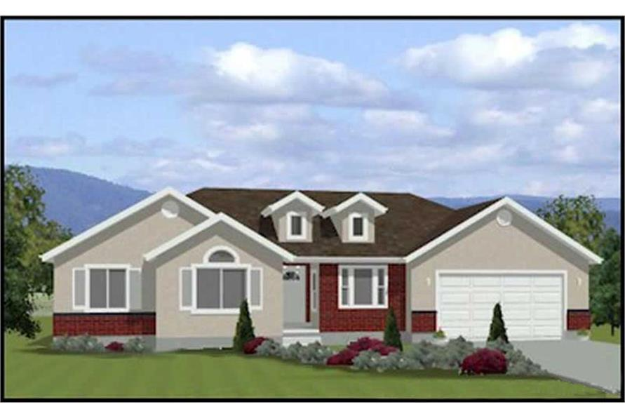 3-Bedroom, 1381 Sq Ft Contemporary Home Plan - 129-1016 - Main Exterior