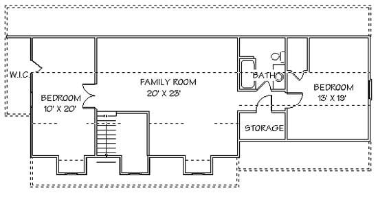 Second Story Floor Plan