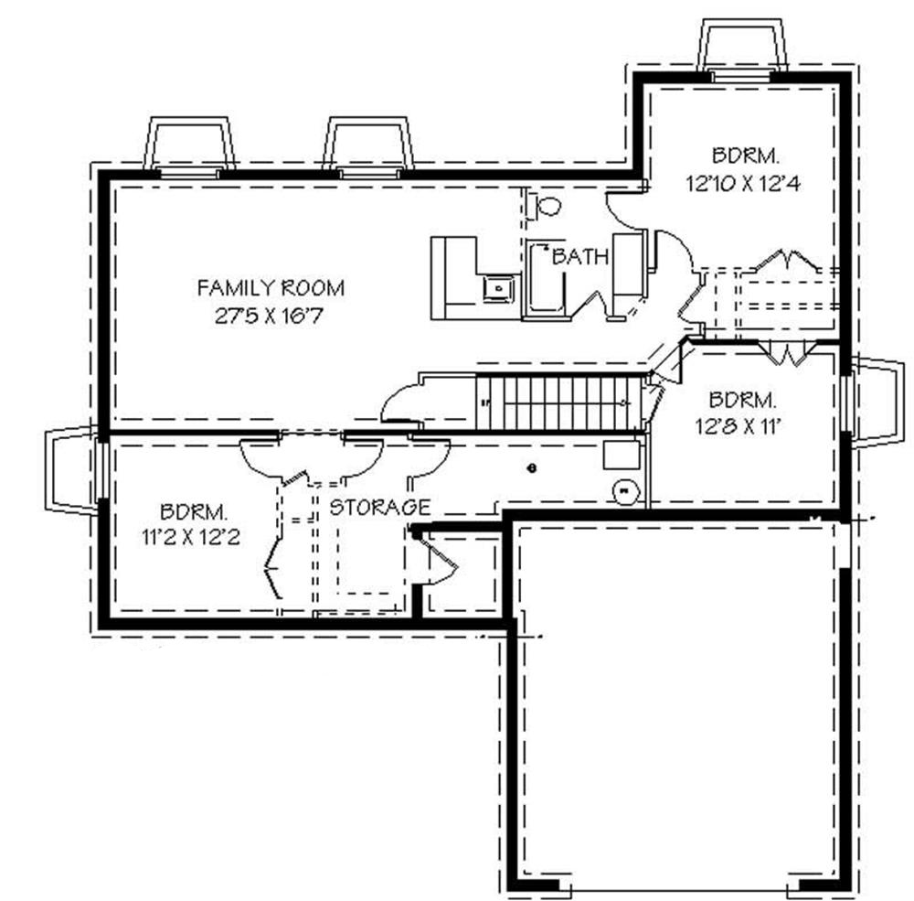 129-1018: Floor Plan Basement