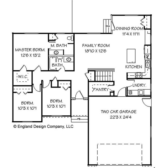 Small ranch house floor plans simple small house floor for Small ranch house plans