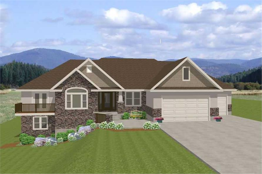 3-Bedroom, 2240 Sq Ft Contemporary Home Plan - 129-1020 - Main Exterior