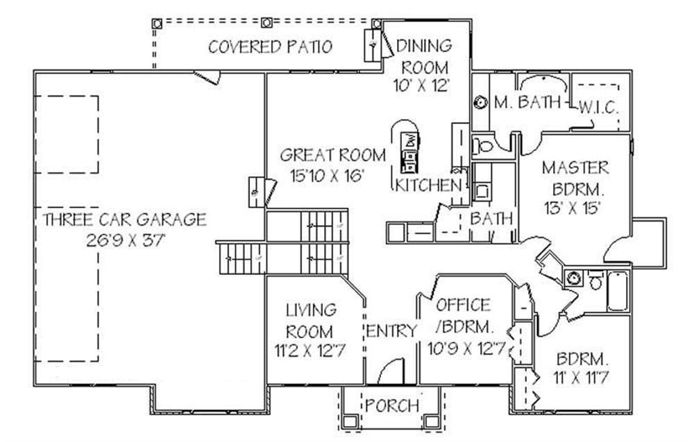 129-1021: Floor Plan Main Level