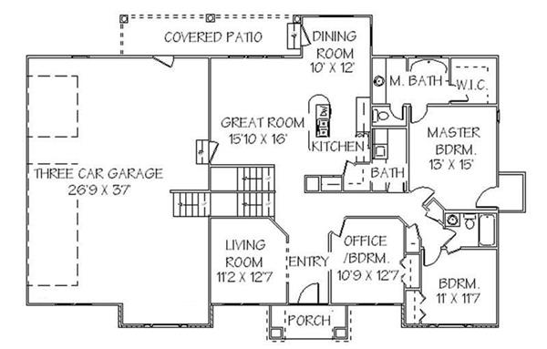 129-1021: Floor Plan Main Level