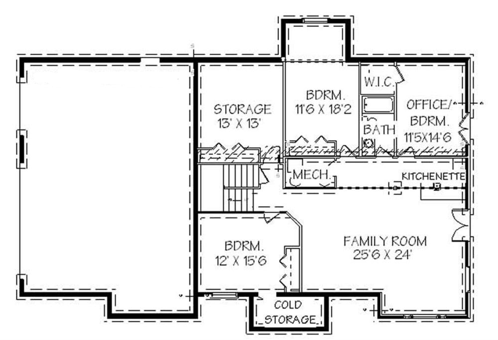 129-1021: Floor Plan Basement