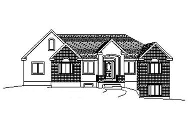 3-Bedroom, 1708 Sq Ft Contemporary Home Plan - 129-1021 - Main Exterior