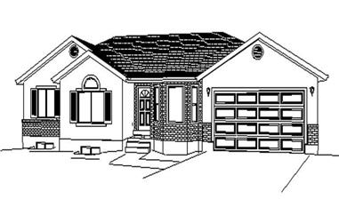3-Bedroom, 1390 Sq Ft Contemporary Home Plan - 129-1022 - Main Exterior