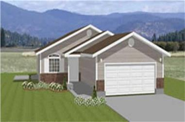 3-Bedroom, 1504 Sq Ft Contemporary Home Plan - 129-1023 - Main Exterior