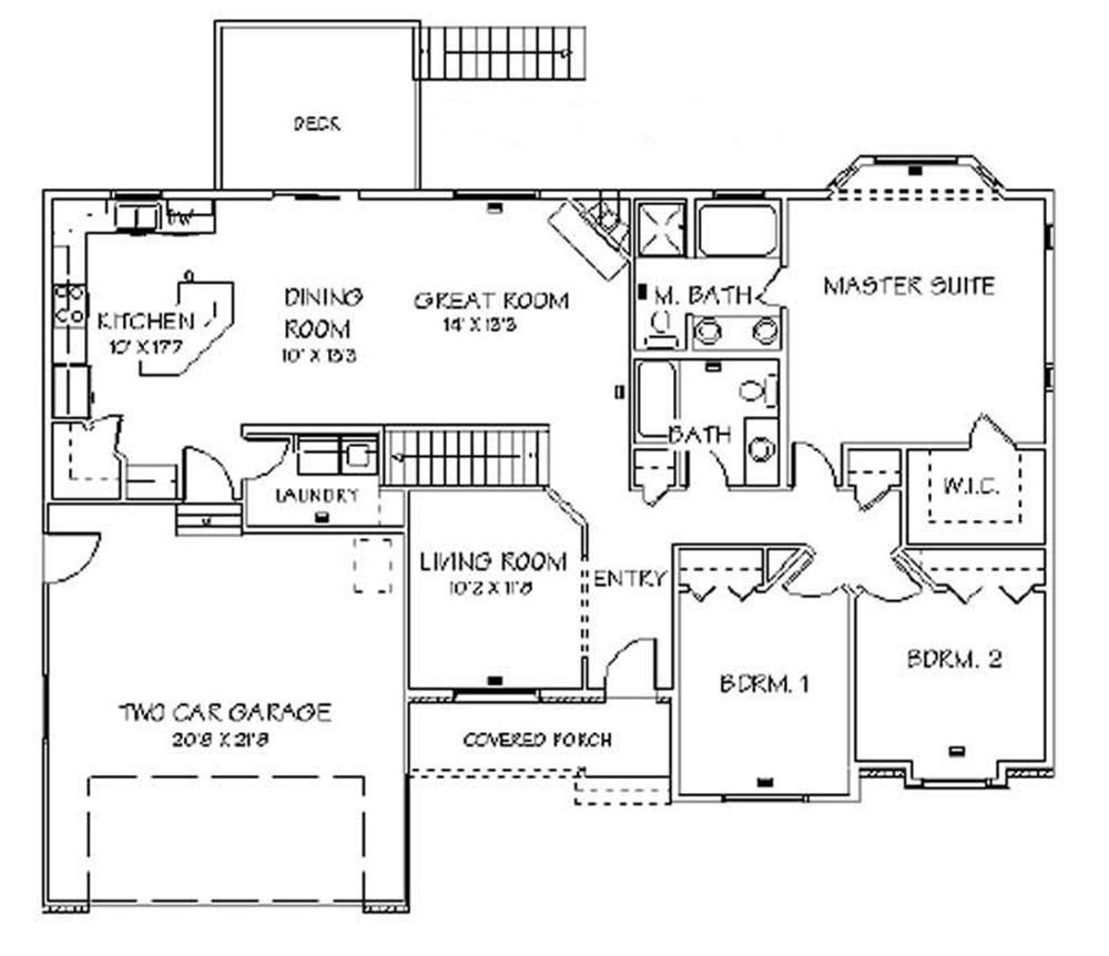 129-1024: Floor Plan Main Level