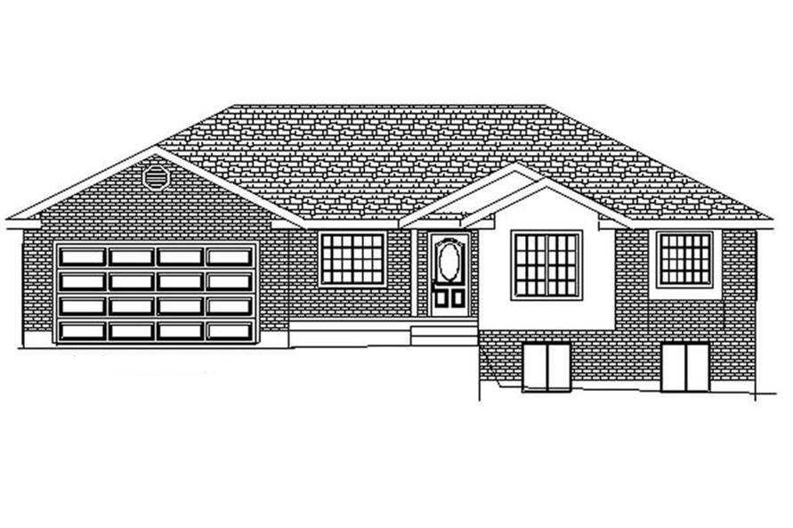 3-Bedroom, 1680 Sq Ft Contemporary Home Plan - 129-1024 - Main Exterior